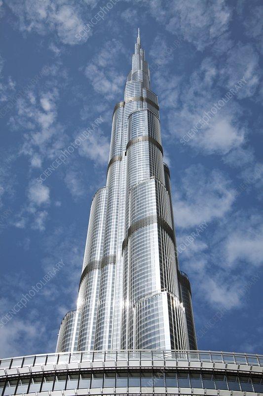 Burj Khalifa skyscraper, Dubai - Stock Image - C014/9506 - Science .