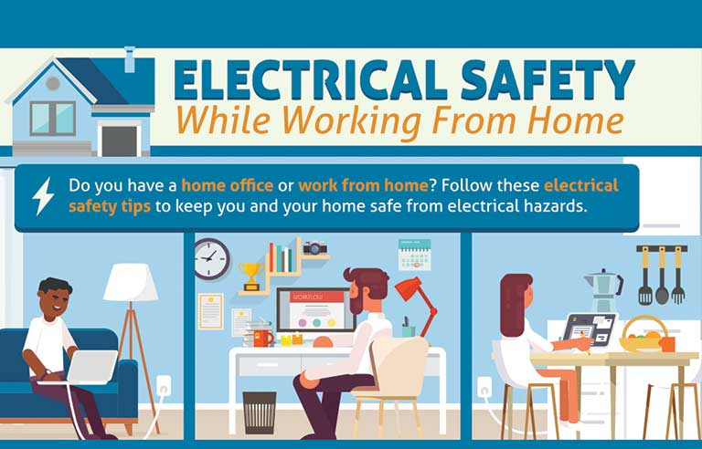 Electrical safety group creates infographic for people working .