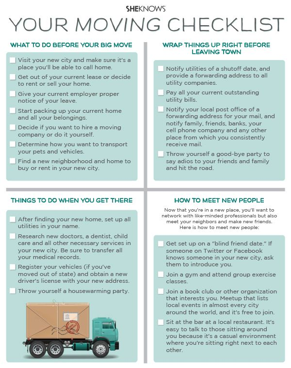 Your moving checklist | Moving checklist, Moving help, Moving d