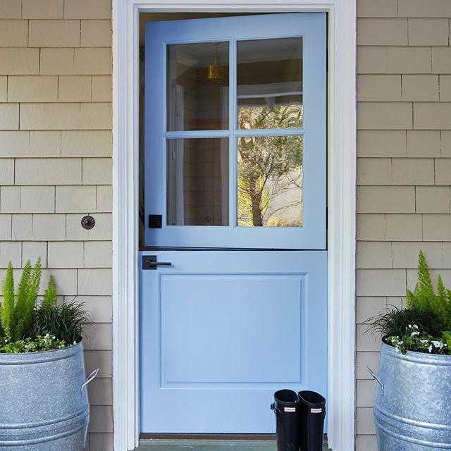 painted exterior dutch door from Simpson Door Company #Regram via .