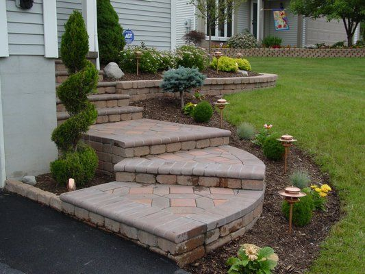 Image result for front steps landscaping ideas | Front yard .