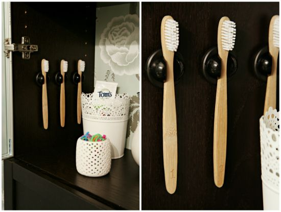 37 Quick Tip: Get a Grip on your Toothbrush | Toothbrush storage .