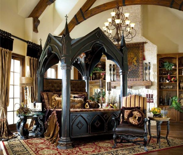 13 Mysterious Gothic Bedroom Interior Design Ide