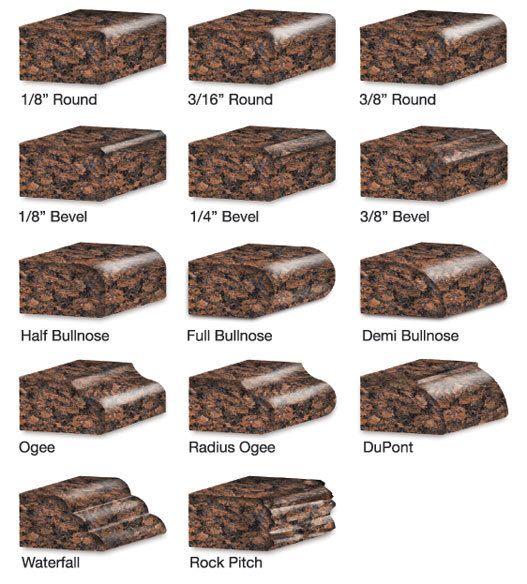 Granite edge types | Granite countertops kitchen, Granite edges .
