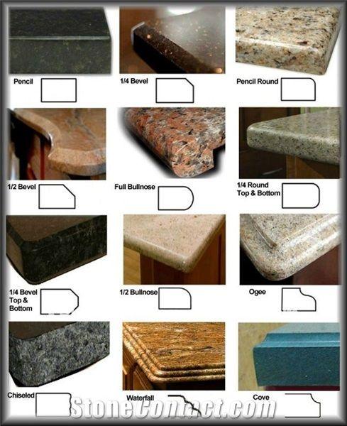Countertop Edge Profiles | Kitchen remodel countertops, Granite .