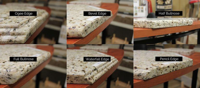 Six types of granite edge profiles | Granite edges, Types of .