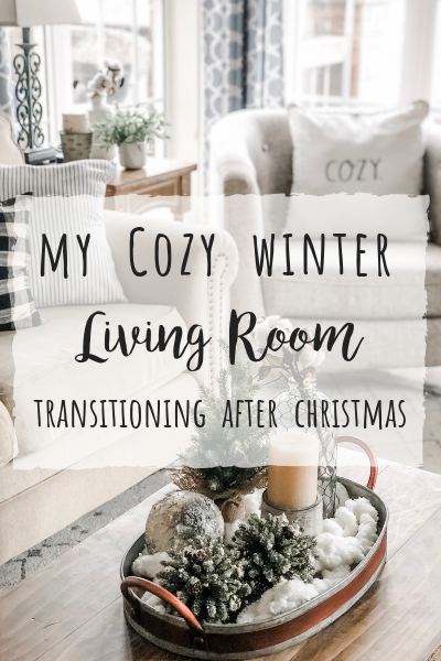Cozy Winter Living Room Decor! The perfect transition after .