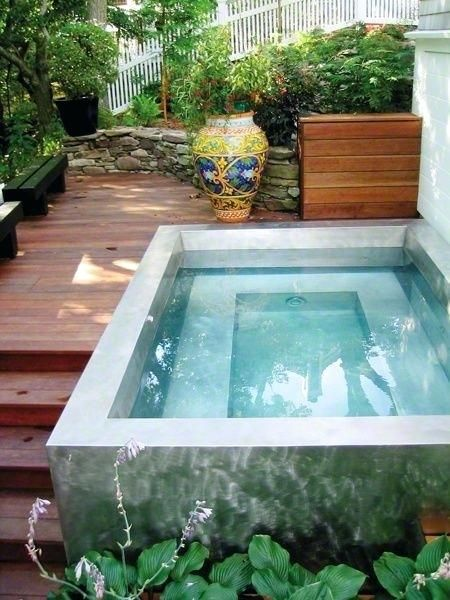 above ground plunge pool best plunge pool ideas on small pools .