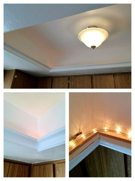 Easy DIY – Get Rid of Fluorescent Lighting | Kitchen ceiling .