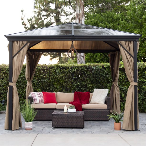 Best Choice Products 10x10ft Outdoor Aluminum Frame Hardtop Gazebo .