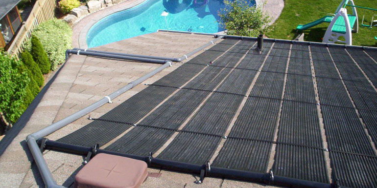 How to use free energy from the sun to heat your swimming pool .