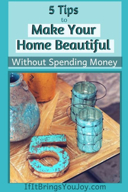 How to Make Your Home Beautiful Without Money in 2020 | Diy home .
