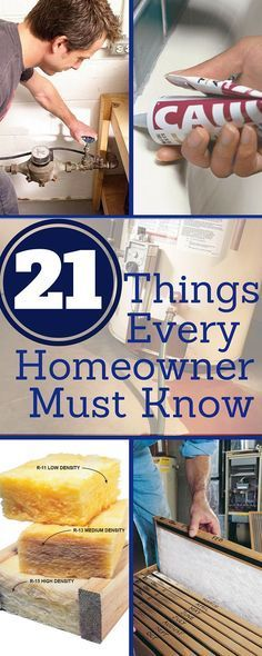 21 Things Every Homeowner Must Know | Home improvement loans, Diy .