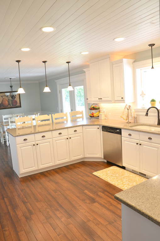 How to DIY a Wood Plank Ceiling   Wood plank ceiling, Kitchen .