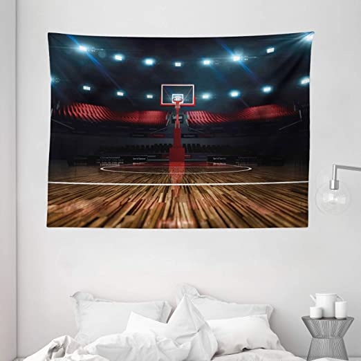 Amazon.com: Ambesonne Teen Room Tapestry, Professional Basketball .