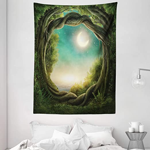 Amazon.com: Ambesonne Trees Tapestry, Trees in Enchanted Forest .
