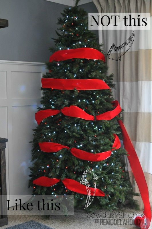 How to Decorate a Christmas Tree (like a professional .