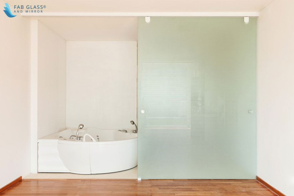 How can we decorate our bathrooms with   translucent glass?