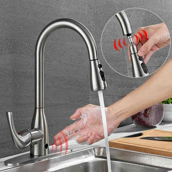 How do non-contact kitchen taps work?