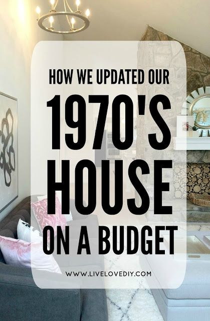 How We Updated Our 1970's House on a Budget (and the living room .