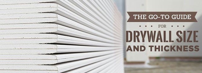 The Go-To Guide for Drywall Size and Thickness | by Williams .