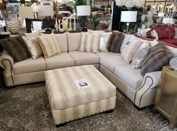 Add a touch of glam to your living space. This upholstered .