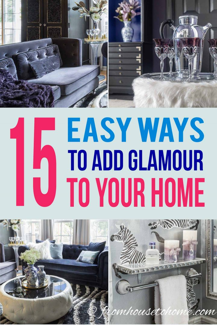 How to add some glamor to your living   room