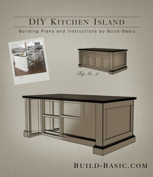 Build a DIY Kitchen Island | Kitchen island building plans .
