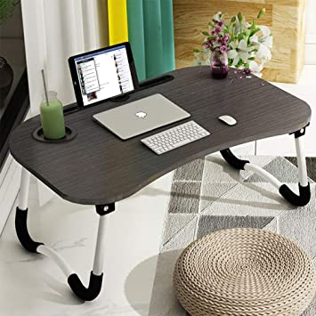 Amazon.com: Laptop Bed Tray Table, Foldable Lap Desk Stand .