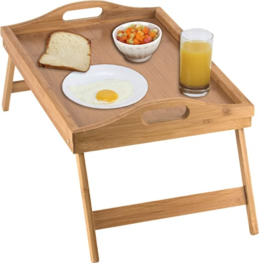 Amazon.com - Home-it Bed Tray table with folding legs, and .