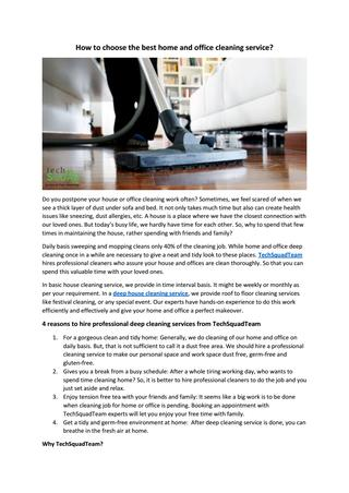 How to choose the best home and office cleaning service? by .