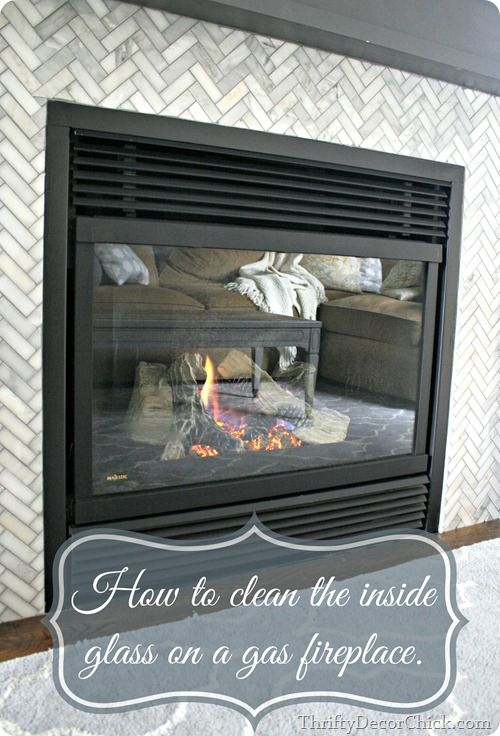Cleaning gas fireplace glass | Glass fireplace, Clean fireplace .