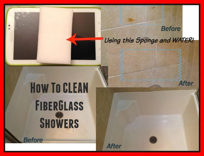 How to Clean Fiberglass Shower and Bathtubs in 1 STEP .