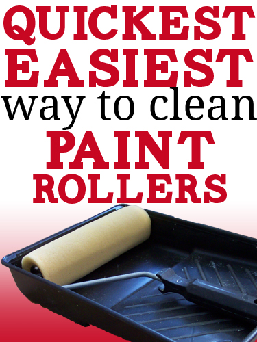 How to Clean a Paint Roller: the Quick & Easy {Kinda Messy} Way .