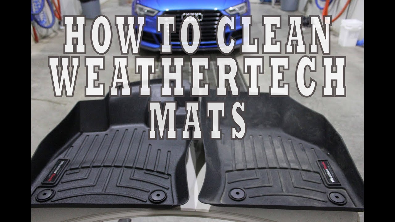 How to clean WeatherTech floor mats to   make them look new
