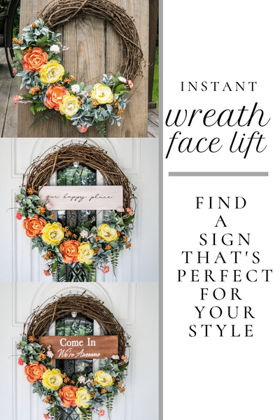 Easily and instantly customize your wreath with a personalized .