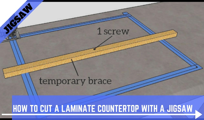 How To Cut A Laminate Countertop With A Jigs