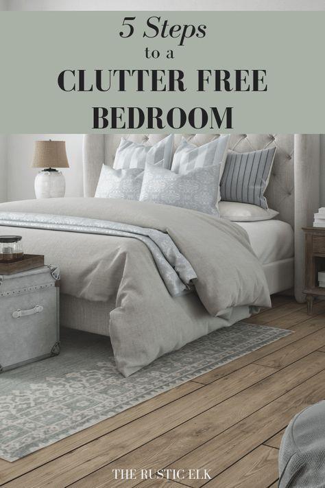 How to Declutter Your Bedroom | Declutter bedroom, Cluttered .