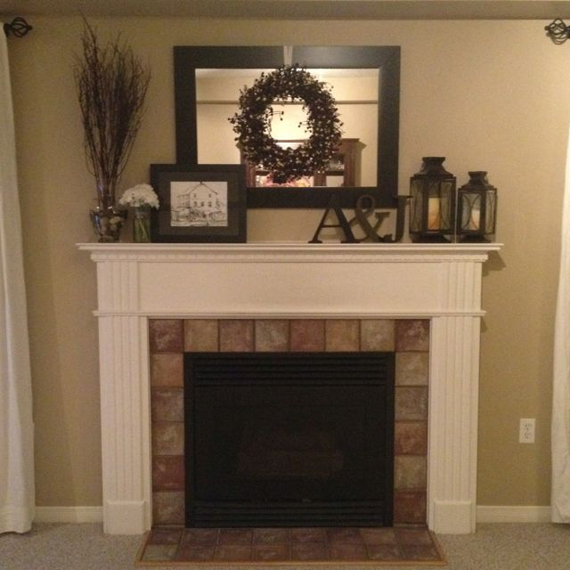 Love this for the fireplace mantel. | Fireplace mantle decor .