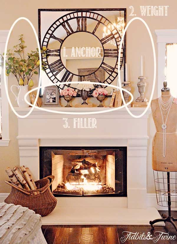 How to decorate a fireplace mantel (neat   decorating ideas)