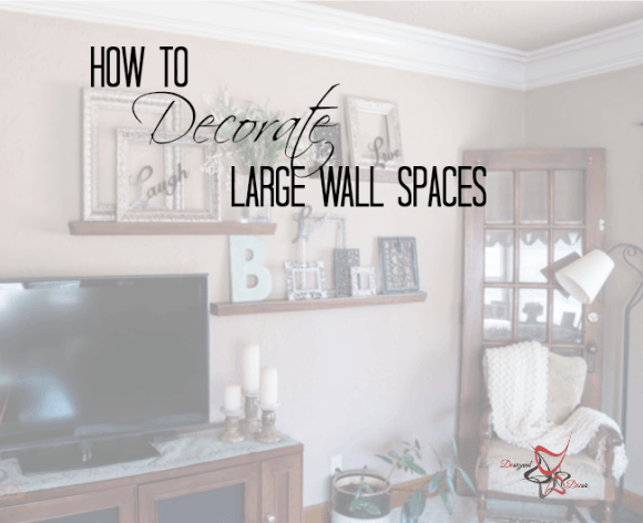 How to Decorate a Large Wall! |- Designed Decor | Family room .