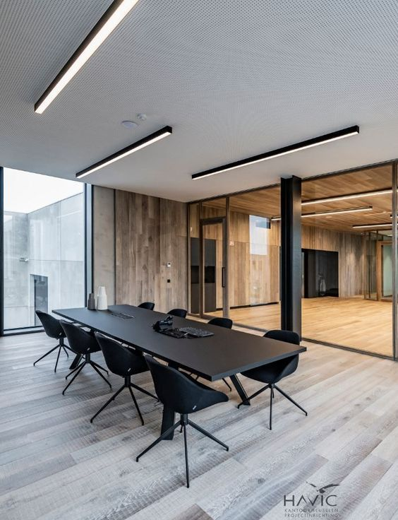linear lights in meeting room | Office interior design, Office .