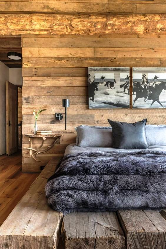 Rustic Bedroom design - The bedroom is the most comfortable place .