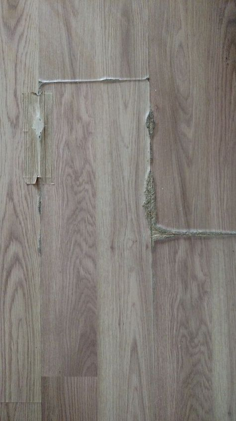 How can I fix oak laminate flooring that has swollen from being .