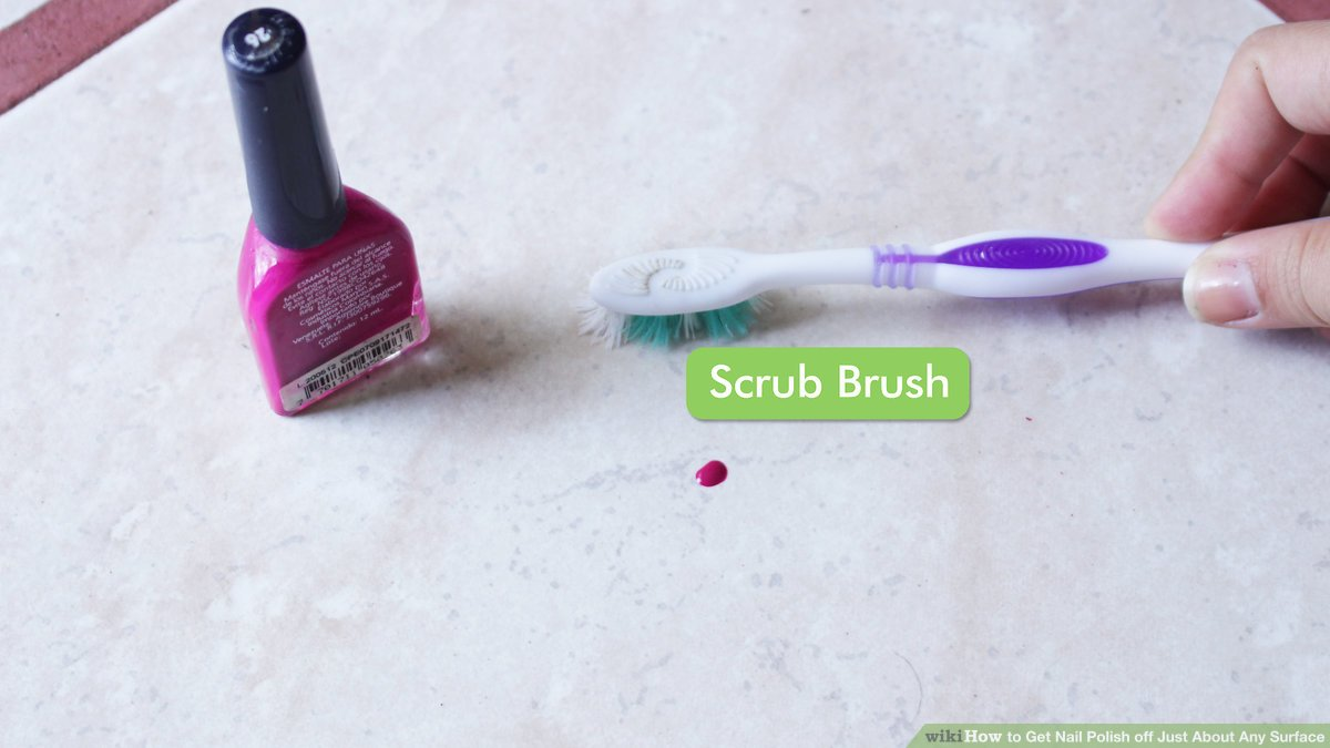 How to get nail polish from walls and   have clean walls again