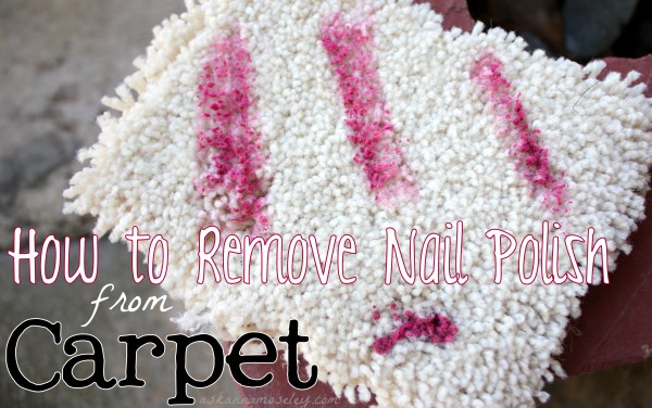 How to clean Nail Polish out of Carpet - Ask An