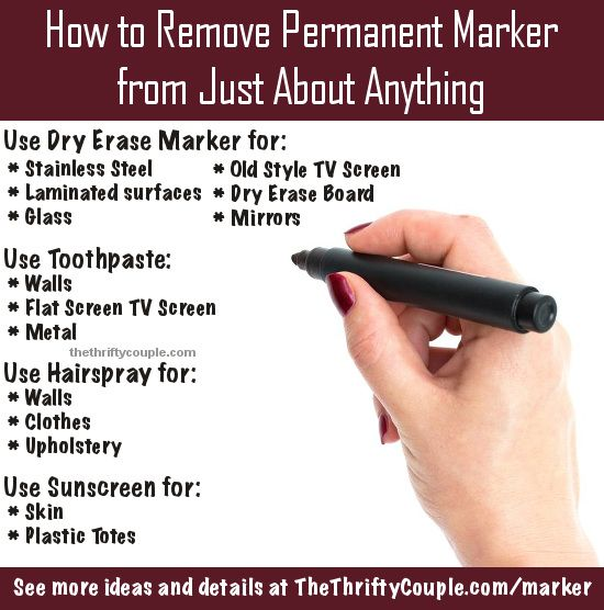 How to Remove Permanent Marker From Just About Anything | How to .