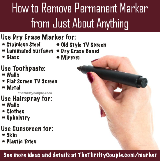 How to Remove Permanent Marker From Just About Anything - The .