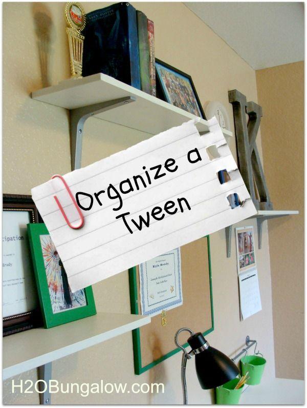 Organize a Tween Room and Get Rid of Clutter - H2OBungalow | Tween .