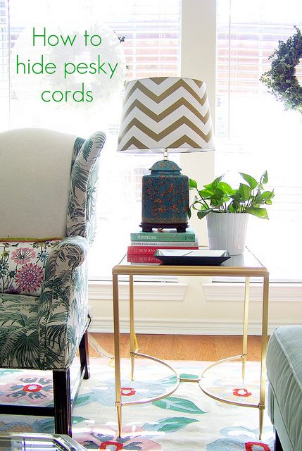 10 Stylish Ways to Hide Unsightly Cords In Your Home | Home, Home .